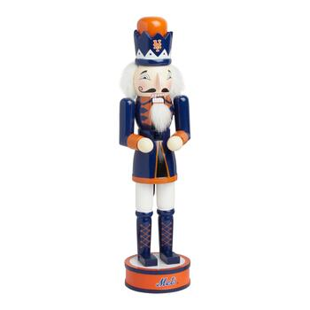 "14"" MLB New York Mets Collectible Wood Nutcracker"