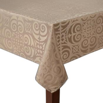 Solid Highbridge Easy-Care Tablecloth