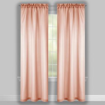 "84"" Solid Textured Window Curtains, Set of 2 view 2"