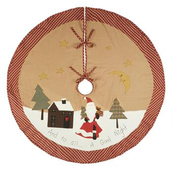 """And To All A Good Night"" Applique Christmas Tree Skirt"