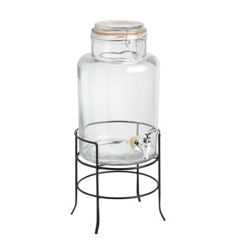 1.5-Gallon Bail Top Beverage Dispenser with Rack Holder