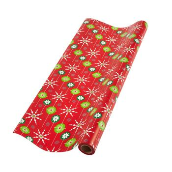 Snowflakes and Ornaments Gift Wrapping Paper Roll