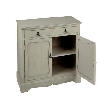 The Grainhouse™ Gray 2-Door/2-Drawer Cabinet view 2