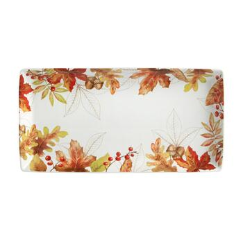 "6""x13"" Harvest Woodland Rectangular Serving Platter view 2"
