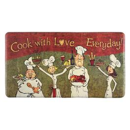 """Cook With Love Everyday"" Cushioned Floor Mat"