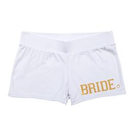 "White ""Bride"" Shorts"