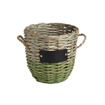 The Grainhouse™ 2-Tone Chalkboard Round Woven Willow Basket