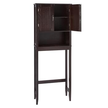 Espresso 2-Door Space Saver Storage Cabinet view 2