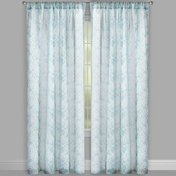 "Bombay™ 84"" Geo Rod Pocket Window Curtains, Set of 2 view 2"