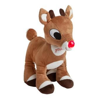 "10"" Lights and Sound Rudolph Plush Stuffed Animal"