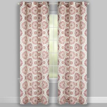 "84"" Crawford Madani Grommet Window Curtains, Set of 2 view 2"