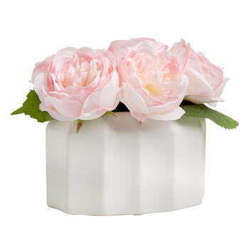 "The Grainhouse™ 7"" Pink Peony Flower Pot view 1"