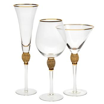 Gold Luxe Clear Rhinestone Drinkware Collection