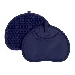 Blue Silicone Pot Mitts, Set of 2