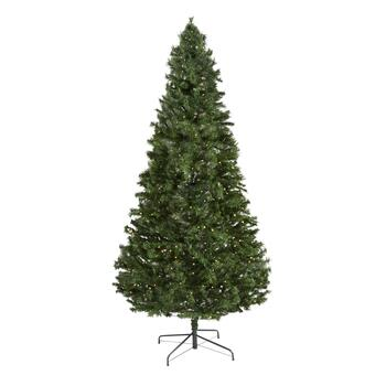 7.5' Pre-Lit Multicolored LED Artificial Christmas Tree view 2