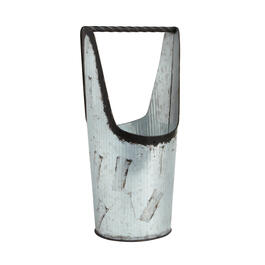 Galvanized Metal Bucket with Handle view 1