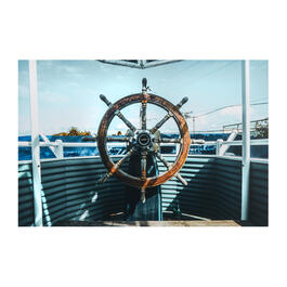 "24""x36"" Captain's Wheel Canvas Wall Art view 1"