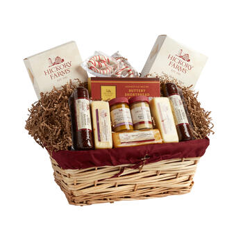 ... Hickory Farms® Christmas Variety Gift Basket. Www Hfarm Hearty Bskt view 1