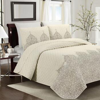 Cream Embroidered Quilt Mini Set