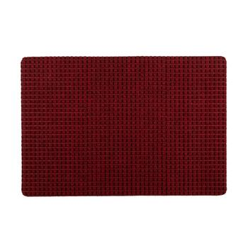 "22""x32"" Red Squares All-Weather Door Mat"