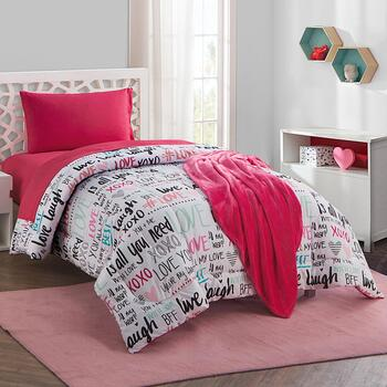 Twin XL Sabine Love Typography Comforter Set, 16 Piece view 2