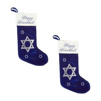 Hanukkah Christmas Stocking.Happy Hanukkah Dreidel Velvet Stocking
