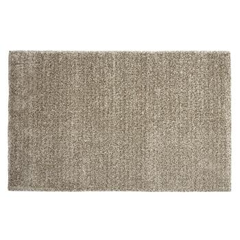 5'x7' Brown/White Shag Area Rug
