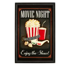 "16""x24"" ""Movie Night"" Wall Sign"