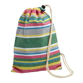 Green/Pink Stripes Hammock in a Bag view 2