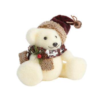 White Christmas Bear Decor view 1