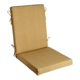 Solid Brown Indoor/Outdoor Hinged Chair Pad