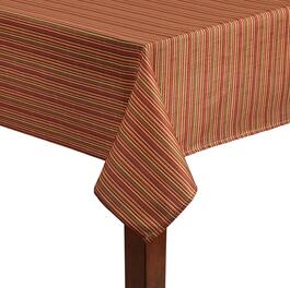 Fall Stripes Printed Microfiber Tablecloth