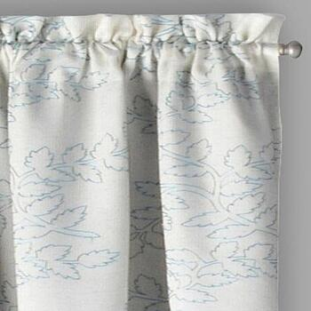 "84"" White Brielle Embroidered Room Darkening Curtains, Set of 2"
