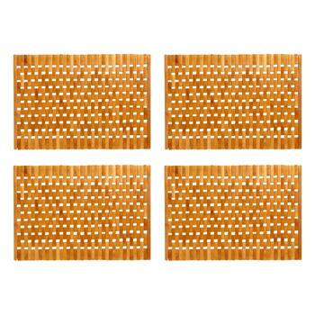 "12""x18"" Woven Logs Placemats, Set of 4"