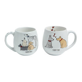 """I Ruff You"" Dog Mugs Set view 1"