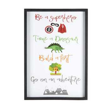 "19""x27"" ""Be a Superhero"" Framed Wall Decor view 1"