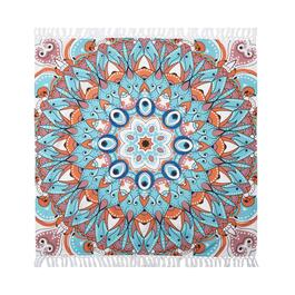 "60"" Mandala Fringe Tapestry Throw"