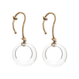 "8.5"" Glass Bubble Hanging Terrariums with Rope, Set of 2 view 1"
