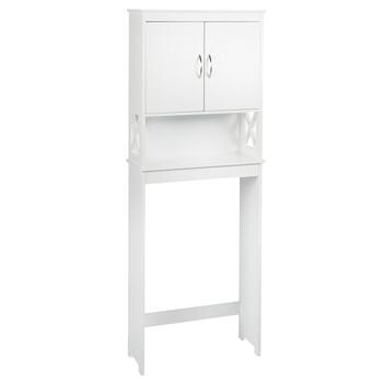 White X-Sided Space Saver Storage Cabinet view 2