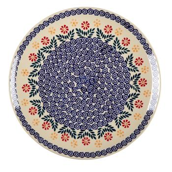 Polish Pottery Cheery Flowers Cake Stand view 2