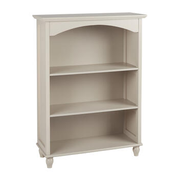 "40"" Dark Tan Scalloped 3-Shelf Bookcase view 1"