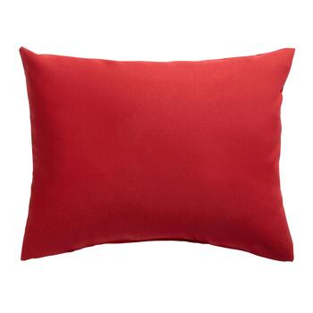 Solid Red Indoor/Outdoor Oblong Pillow