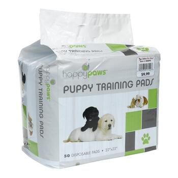 "22"" Puppy Training Pads, 50-Pack"