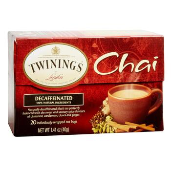 Twinings® Decaffeinated Chai Black Tea, 6 Boxes