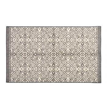 Mohawk Home Dark Gray Patterned Diamonds Accent Rug