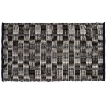 "27""x45"" Dark Blue/Ivory Woven Crosshatch Accent Rug"