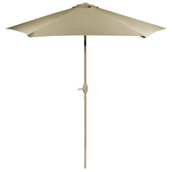 9' Light Taupe Crank/Tilt Market Umbrella