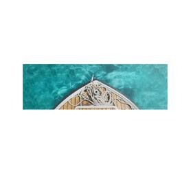 "12""x36"" Boat and Rope Canvas Wall Art"