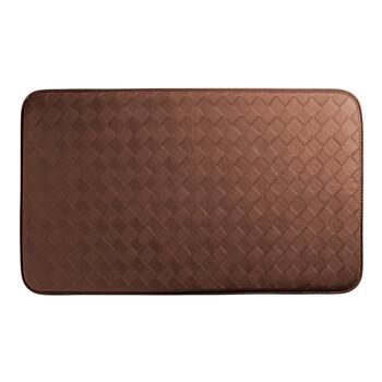 "18""x30"" Solid Basketweave Cushioned Floor Mat"