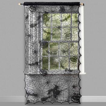 "84"" Spider Web Lace LED Window Panel"